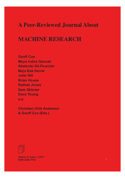 View Vol. 6 No. 1 (2017): Machine Research