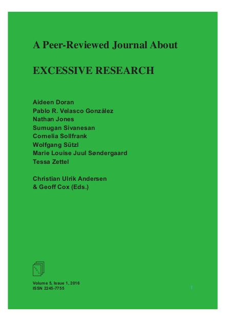 View Vol. 5 No. 1 (2016): Excessive Research
